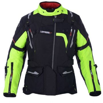 Oxford Montreal 2.0 Women's Textile Waterproof Motorcycle Touring Jacket Fluo